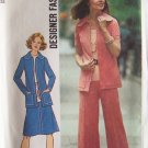 Vintage Simplicity 6845 Zip Front Jacket Skirt and Pants Pattern Uncut Size 12 1970's