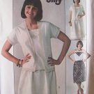 Vintage 70s Simplicity 7918 Kimono Sleeve Jacket Skirt and Camisole Top Pattern Uncut