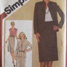 Retro 80s Simplicity 9795 Slim Skirt Front Wrap Blouse and Jacket Pattern Uncut Size 12