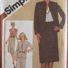 Retro 80s Simplicity 9795 Slim Skirt Front Wrap Blouse and Jacket Pattern Uncut Size 12