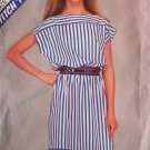 Retro 80s McCall's 8490 Pullover Summer Dress Pattern Uncut Size 10-14