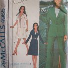Vintage 70s McCall's 4965 Notched Collar Jacket Skirt Pants Pattern Uncut Size 12 Pantsuit