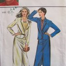 Vintage Butterick 6986 Marie Osmond Front Pleat Straight Skirt Lapel Jacket Pattern Uncut