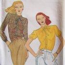 Vintage 70s Butterick 6995 Standing Collar Blouse Pattern Uncut Size 8