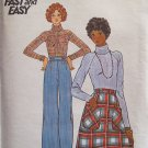Butterick 4441 Wide Straight Leg Pants Raglan Sleeve Top A-Line Skirt Pattern Uncut Size 12