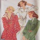 Vintage Butterick 4444 Yoked Tunic Blouse Pattern Long Sleeve Slit Neckline Uncut Size 12