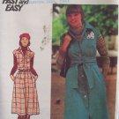 Vintage 70s Butterick 4482 Jumper Dress and Obi Sash Pattern Uncut Size 12