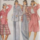 Vintage Butterick 5089 Shirt Jacket Culottes and Pants Pattern Uncut Size12 Rena Rowan