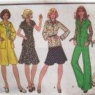 Vintage 70s McCall's 4365 Belted Jacket Bias Skirt Pants Pattern Uncut Size 12 Bust 34