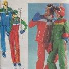 Vintage Butterick 5110 Ski Jacket Vest Bib Jumpsuit Overalls Pattern Uncut Size 12