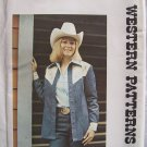 Authentic Patterns 271 Vintage Yoked Western Shirt Pattern Uncut Size 8 Bust 31 ½