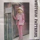 Vintage 70s Authentic Patterns 268 Western Shirt Jacket Pattern Uncut Size 8