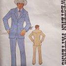 Vintage 70s Authentic Patterns 240 Men's Yoked Western Suit Pattern Uncut