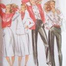 Vintage Butterick 6959 Cardigan Jacket A-Line Skirt Blouse Pants Pattern Uncut Size 12