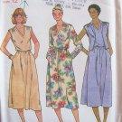 Vintage 70s Butterick 6376 Blouson Waist Dress Cropped Vest Pattern Uncut Size 12