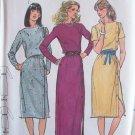 Vintage 70s Butterick 6961 Bateau Neck Long Sleeve Evening Dress Pattern Uncut Size 12