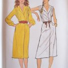 Vintage Butterick 6962 Pleated Bodice Sleeveless Wrap Dress Pattern Uncut Size 12