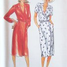 Vintage Butterick 6964 Low Neckline Wrap Dress and Belt Sewing Pattern Uncut Size 12