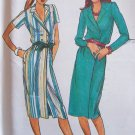 Vintage Butterick 6966 Double Breasted Wrap Dress Pattern Uncut Size 12