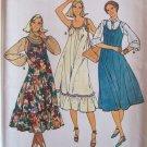 Vintage Butterick 6314 Strappy Sleeveless Summer Dress Pattern Ruffled Hem Uncut Size 6-10