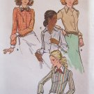 Vintage Buutterick 6525 Pointed or Round Collar Blouse Bow Tie Pattern Uncut Size 14