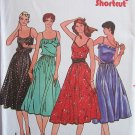 Vintage 70s Butterick 6562 Strappy Fitted and Flared Summer Dress Pattern Uncut