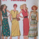 Vintage Butterick 6566 Boat or V-Neck Sleeveless Summer Dress Pattern Uncut Size 10-14