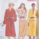 Vintage Butterick 6665 Shawl Collar Dress or Top and Skirt Pattern Uncut Size 10-14
