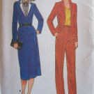 Vintage Butterick 6673 Side Wrap Straight Skirt Tapered Pants Jacket Dress Suit Pattern Uncut