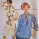 Vintage 70s Butterick 5193 Band Collar Tunic Top Dress pattern Uncut Size 12