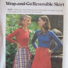 Vintage 70s Butterick 5212 Wrap and Go Reversible Skirt Pattern Uncut Size 26 ½