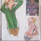 Vintage Buterick 5214 Pointed Collar Blouse and Scarf Pattern Uncut Size 8