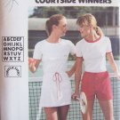 Vintage Butterick 5378 Tennis Dress T-Shirt and Shorts Pattern Uncut Chrissie Evert