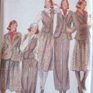 Vintage Butterick 5613 Suit Jacket Vest Skirt Pattern Pantsuit Uncut Size 14