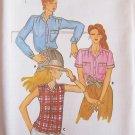 Vintage 70s Butterick 6956 Front Button Summer Blouse Pattern Uncut Size 10