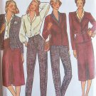 Vintage 70s Butterick 6738 Notched Collar Jacket Blouse Straight Skirt Pants Pattern Uncut Size 14