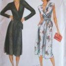 Vintage Butterick 6917 V-Neck Wrap Bodice Dress Pattern Uncut Size 12 Long or Sleeveless