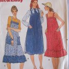 Vintage 70s Butterick 5869 Jumper Sundress Pattern Ruffled Hem Uncut Size 10