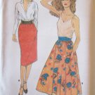 Vintage 70s Butterick 6896 Straight or Flared Skirt Pattern Uncut Size 12-14