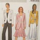 Butterick 4464 Princess Seam Jacket Ribbon Belt Flared Skirt Pattern Uncut Size 8-14