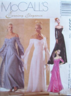 McCall&acirc;s 3535 Empire Waist Evening or Bridal Dress Pattern Uncut Size 16-22