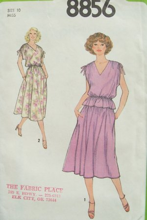 Vintage 70s Simplicity 8856 Two Piece Summer Dress Pattern Uncut Size 10