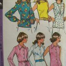 Vintage 70s McCall's 3550 Roll Collar Sleeveless Blouse Pattern Uncut Size 12