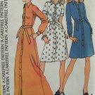 Vintage 70s McCall's 3593 Halston Maxi Shirtdress Pattern Uncut Size 12 Front Button