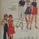 Vintage 70s Butterick 3053 Top Flounce Skirt Pants Shorts Pattern Uncut Size 16 Bust 38