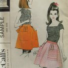 Vintage 60s McCall's Short Apron Sewing Pattern Uncut Sample One Size