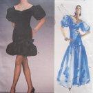 Retro 80s Vogue 1993 Givenchy Dropped Waist Bubble Skirt Formal Dress Pattern Uncut Size 14