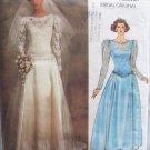 Vintage 80s Vogue 1519 Original Bridal Gown Pattern Bridesmaid Dress Pattern Uncut Size 12