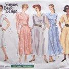 Vogue 2441 Basic Design Flared Skirt Dress Sewing Pattern Uncut Size 8-12 Mock Wrap Bodice