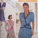 Butterick 4618 David Warren Wrap Front Top flared Skirt Dress Pattern Uncut Size 12-16